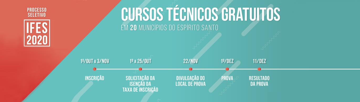 Divulgação do local de prova dos cursos técnicos integrados do Ifes será dia 22/11