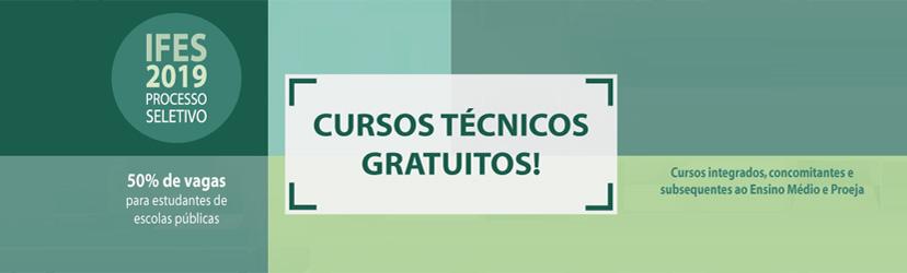 Campus Colatina oferta 180 vagas em cursos técnicos